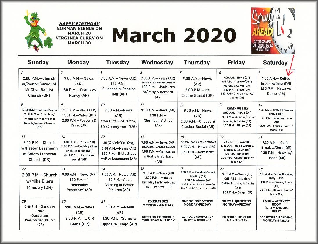 Calendar Ideas For Nursing Homes : Nursing home activities images
